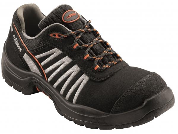 BIG-ruNNex-S2-Sicherheits-Arbeits-Berufs-Schuhe, Halbschuhe, TeamStar, schwarz/silber/orange