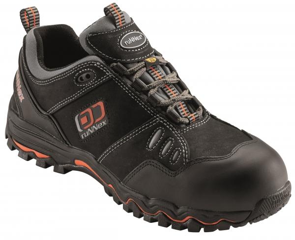 BIG-ruNNex-S2-Sicherheits-Arbeits-Berufs-Schuhe, Halbschuhe, LightStar, schwarz/orange/grau