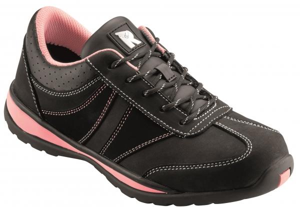 BIG-ruNNex-S2-Damen-Sicherheits-Arbeits-Berufs-Schuhe, Halbschuhe, GirlStar, schwarz/pink