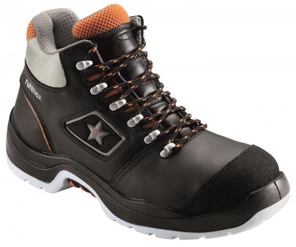 BIG-ruNNex-S3-Schnürstiefel, Sicherheits-Arbeits-Berufs-Schuhe, Hochschuhe, TeamStar, schwarz/orange