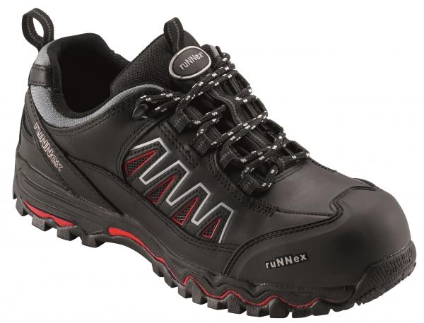 BIG-ruNNex-S3-Sicherheits-Arbeits-Berufs-Schuhe, Halbschuhe, LightStar, schwarz/rot