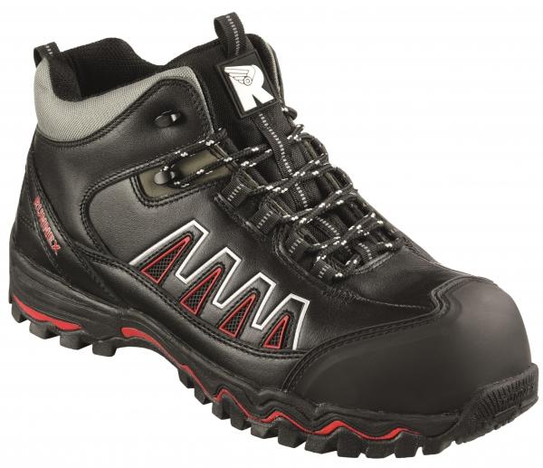 BIG-ruNNex-S3-Schnürstiefel, Sicherheits-Arbeits-Berufs-Schuhe, Hochschuhe, LightStar, schwarz/rot