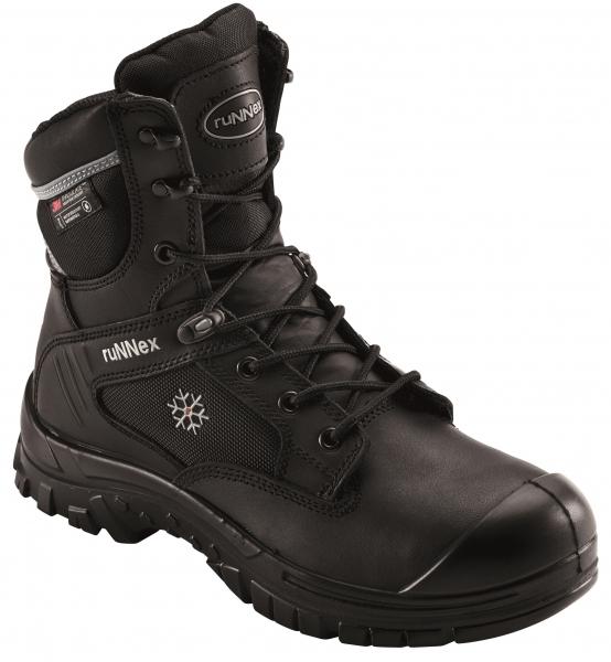 BIG-ruNNex-S3-Schnürstiefel, Sicherheits-Arbeits-Berufs-Schuhe, Hochschuhe, WinterStar, schwarz