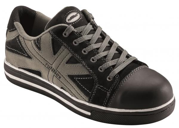 BIG-ruNNex-S3-Sicherheits-Arbeits-Berufs-Schuhe, Halbschuhe, SportStar, schwarz/grau