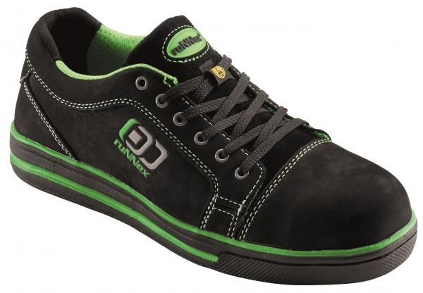 BIG-ruNNex-S3-Sicherheits-Arbeits-Berufs-Schuhe, Halbschuhe, SportStar, schwarz/grün