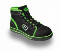 BIG-ruNNex-S3-Schnürstiefel, Sicherheits-Arbeits-Berufs-Schuhe, Hochschuhe, SportStar, schwarz/grün