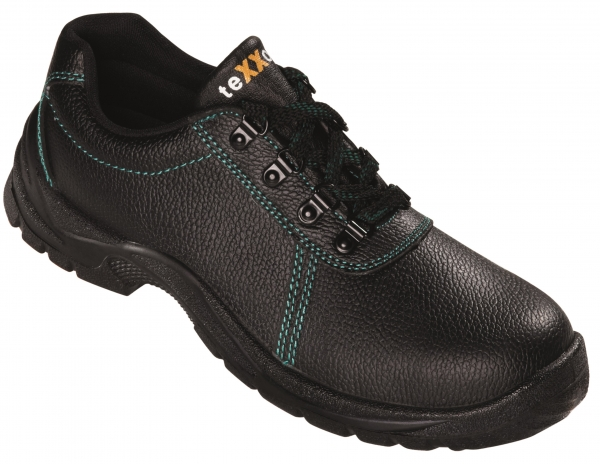 BIG-TEXXOR-S1-Sicherheits-Arbeits-Berufs-Schuhe, Halbschuhe, Rouen, schwarz/grün