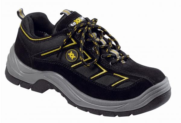BIG-TEXXOR-S1-Sicherheits-Arbeits-Berufs-Schuhe, Halbschuhe, Metz, schwarz/gelb