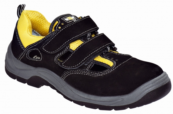 BIG-TEXXOR-S1-Arbeits-Berufs-Sicherheits-Sandalen, Klettsandalen, Romans, schwarz/gelb