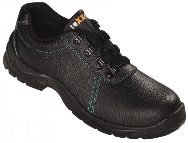 BIG-TEXXOR-S2-Sicherheits-Arbeits-Berufs-Schuhe, Halbschuhe, Nantes, schwarz/grün