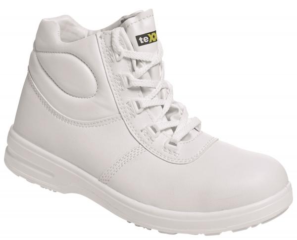 BIG-TEXXOR-S2-Schnürstiefel, Sicherheits-Arbeits-Berufs-Schuhe, Hochschuhe, Montpellier, weiß