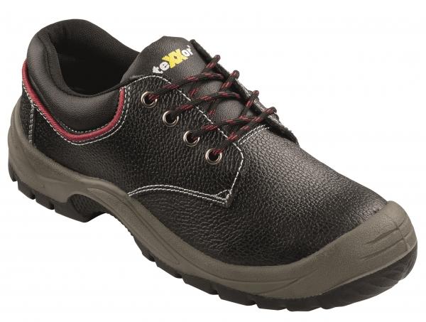 BIG-TEXXOR-S3-Sicherheits-Arbeits-Berufs-Schuhe, Halbschuhe, Nizza, schwarz/rot