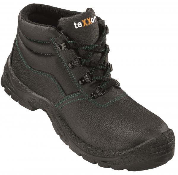 BIG-TEXXOR-S3-Schnürstiefel, Sicherheits-Arbeits-Berufs-Schuhe, Hochschuhe, Paris, schwarz/grün