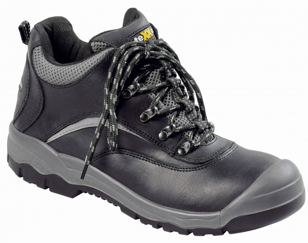 BIG-TEXXOR-S3-Schnürstiefel, Sicherheits-Arbeits-Berufs-Schuhe, Hochschuhe, Cannes, schwarz/grau