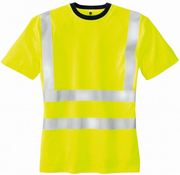 BIG-TEXXOR-Warn-Schutz--T-Shirt, Hooge, leuchtgelb