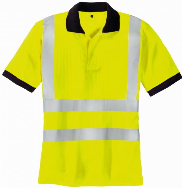 BIG-TEXXOR-Warn-Schutz-Polo-Shirt, Sylt, leuchtgelb