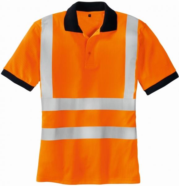 BIG-TEXXOR-Warn-Schutz-Polo-Shirt, Sylt, leuchtorange