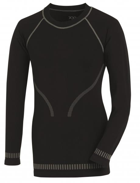 BIG-TEXXOR-Funktions-Unterhemd, Dansö, schwarz/grau