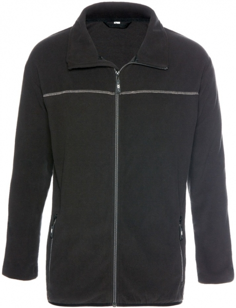 BIG-TEXXOR-Micro-Fleece-Arbeits-Berufs-Jacke, Bergen, 160g/m², schwarz