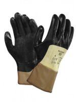 ANSELL-Nitril-Arbeits-Handschuhe, Nitrasafe, 28-329, Gelb/Schwarz