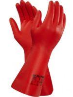 ANSELL-Nitril-Chemikalien-Schutz-Arbeits-Handschuhe, Sol-Vex, Rot