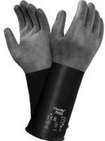 ANSELL-Chemikalien-Schutz-Arbeits-Handschuhe, Chemtek, 38-514, Schwarz