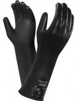 ANSELL-Chemikalien-Schutz-Arbeits-Handschuhe, Chemtek, 38-628, Schwarz