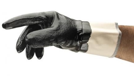 ANSELL-BAUMWOLL-ARBEITSHANDSCHUHE mit Nitrilbeschichtung, EDGE, 48-500, schwarz
