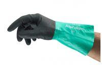 ANSELL-Chemikalien-Schutz-Arbeits-Handschuhe, Alphatec, 58-128, Anthrazit/Grün