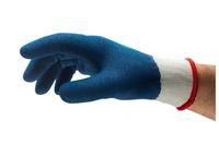 ANSELL-Strick-Arbeits-Handschuhe, Power Flex, 80-409, Blau/Weiss