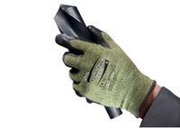 ANSELL-SCHNITTSCHUTZ-Strick-Arbeits-Handschuhe, Power Flex, 80-813, Schwarz/Grün/Gelb