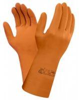 ANSELL Latex-Chemikalien-Arbeits-Schutz-Handschuhe, Arbeitshandschuhe Extra, Orange