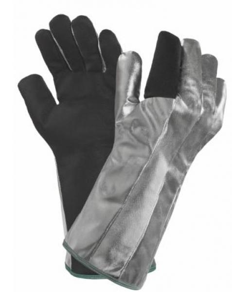 ANSELL-HITZESCHUTZ-Arbeits-Handschuhe, Comaflame, silber/schwarz