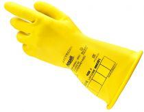 ANSELL-NATURGUMMI-LATEX-Arbeits-Handschuhe, ohne Trägermaterial, E013Y, Länge: 280 mm, gelb