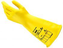 ANSELL-NATURGUMMI-LATEX-Arbeits-Handschuhe, ohne Trägermaterial, E015B, Länge: 360 mm, schwarz