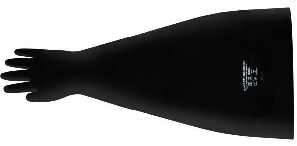 ANSELL-LATEXHANDSCHUHE, Latex Dry Box anti-static, Länge: 760 mm, schwarz