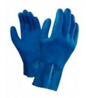 ANSELL-Chemikalien-Arbeits-Schutz-Handschuhe, PVC-Beschichtung auf Baumwoll-Trägermaterial, Mikrogranulierung, Lange Stulp