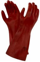ANSELL-Chemikalien-Schutz-Arbeits-Handschuhe, Normal Plus 27, Länge: 270 mm, rot