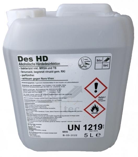 BIO-TEC-Händedesinfektion - Hand-Desinfektionsmittel Des HD - 5 l