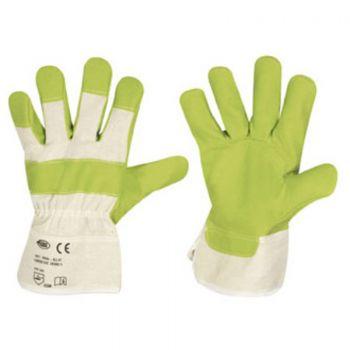 F-STRONGHAND-Kunst-Leder-Arbeits-Handschuhe, KLH, grün