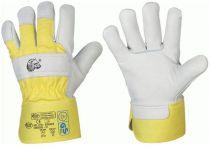 F-STRONGHAND, Leder-Winter-Arbeits-Handschuhe, EISBÄR, gelb