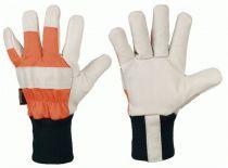 F-Strong Hand, Rindvoll-Leder-Arbeits-Handschuhe, Lärche, Weiß-Oran