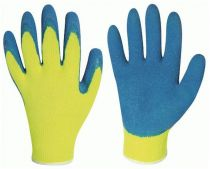 F-Stronghand, Latex-Winter-Arbeits-Handschuhe, HARRER, gelb/blau