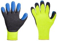 F-STRONGHAND-Grobstrick-Arbeits-Handschuhe, FORSTER, gelb/blau