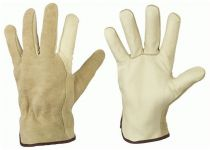 F-SANTA FE, Kunst-Leder-Arbeits-Handschuhe, PONDOSA, beige