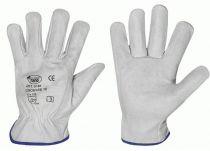 F-Rind-Nappa-Leder-Arbeits-Handschuhe, SILVERSTONE-Driver, weiß