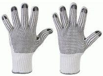 F-STRONGHAND-Strick-Arbeits-Handschuhe, TANTUNG, weiß mit farbige