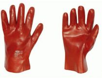 F-STRONGHAND-PVC-Arbeits-Handschuhe, CHICAGO, rot
