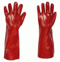 F-STRONGHAND-PVC-Arbeits-Handschuhe, COLUMBIA, rot