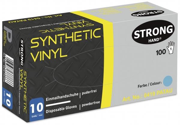F-STRONGHAND, Nitril/Vinyl-Einweghandschuhe, puderfrei, *PATAU*, Spenderbox á 100 Stück, VE: 10 Boxen, blau